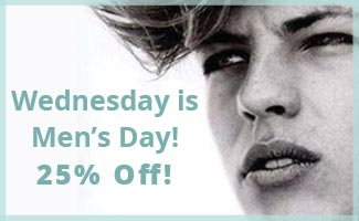 25% off for men on Wednesdays